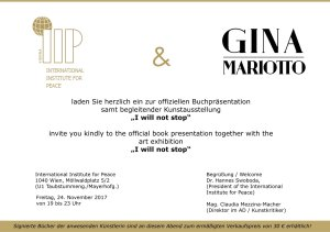 Invitation Gina Mariotto